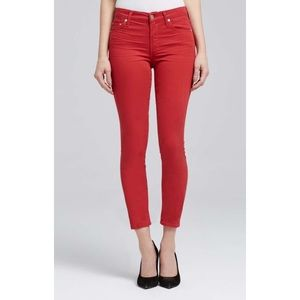 Citizens of Humanity Crop High Rise Red Skinny 27